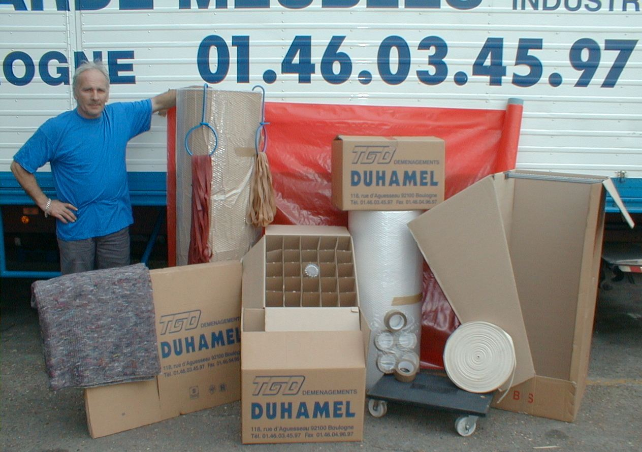 Cartons duhamel d m nagement boulogne billancourt - Carton demenagement paris ...